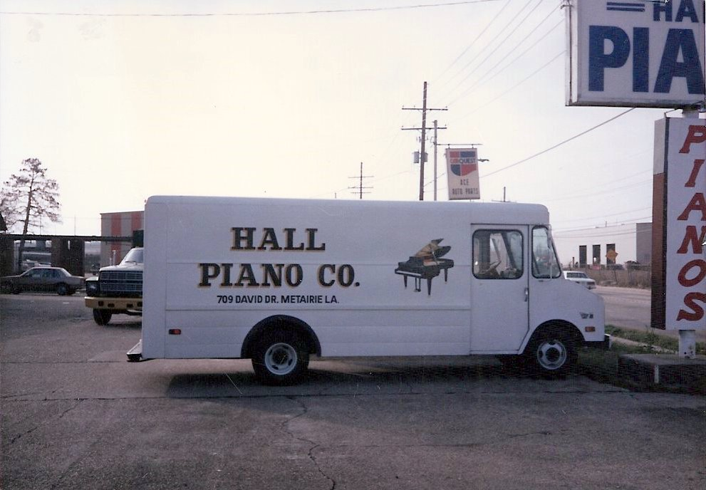 Early delivery truck for Hall Piano Company